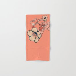Outline flowers Hand & Bath Towel