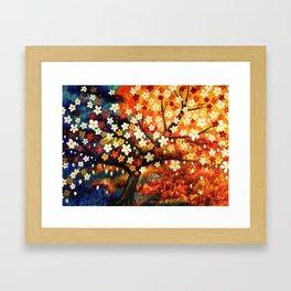 Flower Gold Dust Framed Art Print