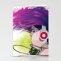 snatch Stationery Cards featuring Listen. by Lorenzo Imperato