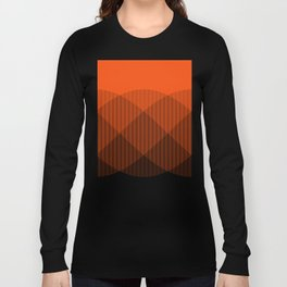 Orange to Black Ombre Signal Long Sleeve T-shirt