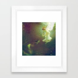 The angel and the mermaid Framed Art Print