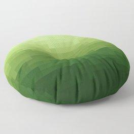 Gradient Pixel Green Floor Pillow