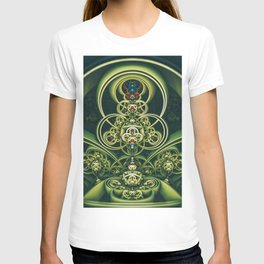 Time Shell IV. Green Abstract Geometry T-shirt