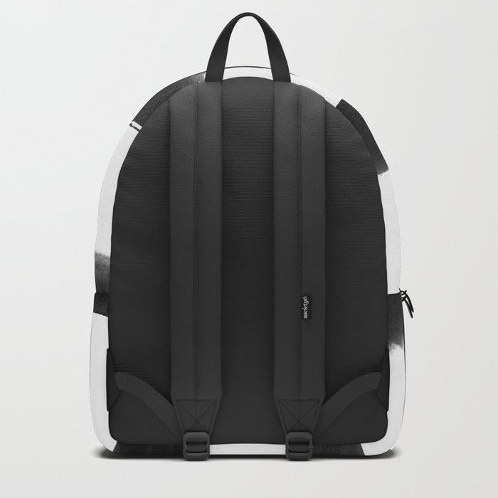 Black Brush Strokes Backpack