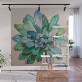 Cactus with Pink tipped leaves Wall Mural