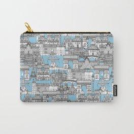 Paris toile cornflower blue Carry-All Pouch