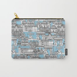 Paris toile cornflower blue Carry-All Pouch