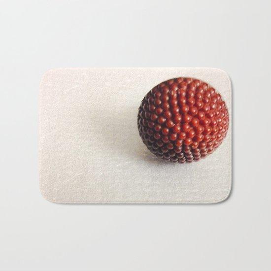 Vintage Raspberry Button | Still Life Bath Mat
