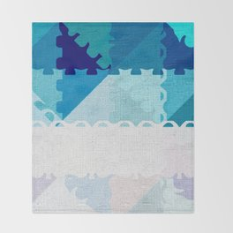 Decorative Pastel Puzzel Abstract Throw Blanket