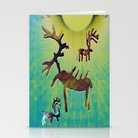 reindeer Stationery Cards featuring reindeer by donphil