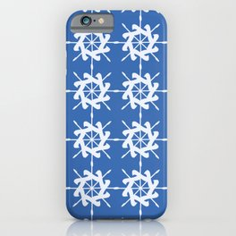Abstract Ships Wheel Pattern iPhone Case