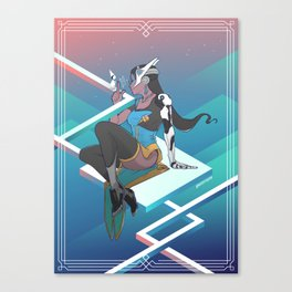 Symmetra in Monument Valley Canvas Print