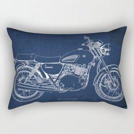 24-2013 Suzuki TU250X BLUE, Bike blueprint, gift for man Rectangular Pillow