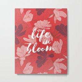 Life in bloom - coral red Metal Print