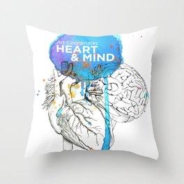 Art Coordinates Heart and Mind Throw Pillow