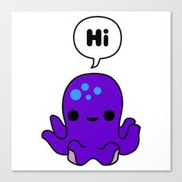 Octopus Conversation Canvas Print