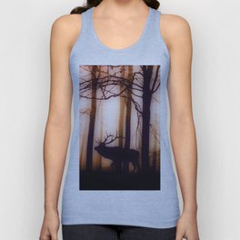 Deer in the magic forest Unisex Tank Top