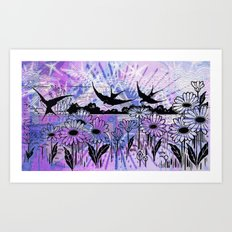 sky birds Art Print