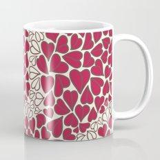 HEARTS  ~  CRIMSON & CLEAR Mug