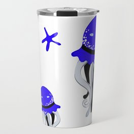 cute blue octopus Travel Mug