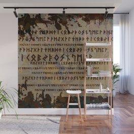 Runic alphabet Wall Mural