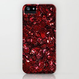 Red Scattered Sequins iPhone Case