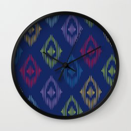 Colorful Boho Print Wall Clock