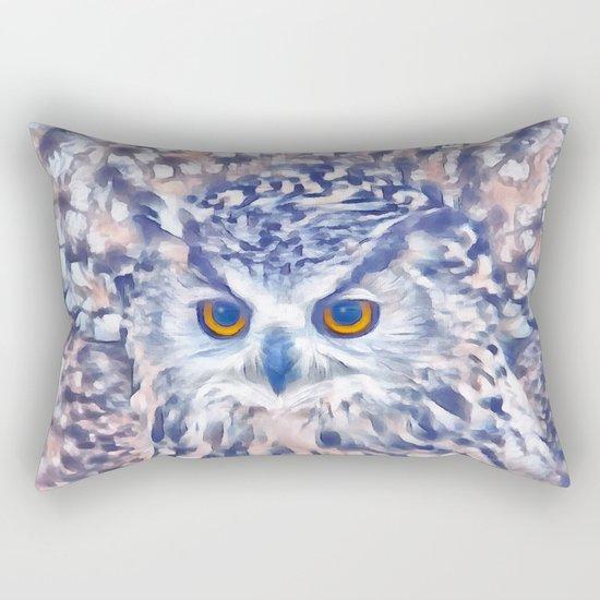 Fluffy owl Rectangular Pillow