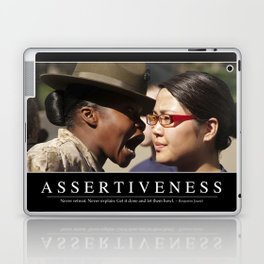 Assertiveness: Inspirational Quote and Motivational Poster Laptop & iPad Skin
