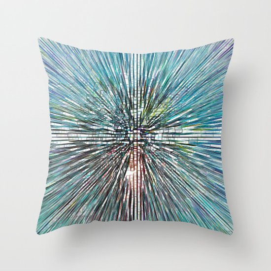 Digital Art Abstract Throw Pillow