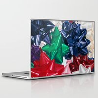 bows Laptop & iPad Skins featuring Christmas Bows by Jessica Gawinski