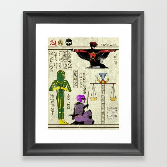 Hero-Glyphics: Kick Ass Framed Art Print