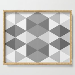 Grey Triangles Serving Tray