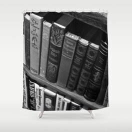 Page Travels Shower Curtain