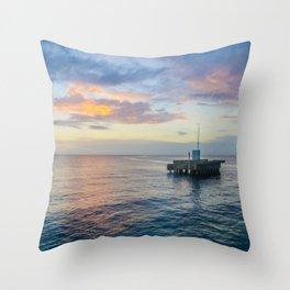 Sunset on the Atlantic Throw Pillow