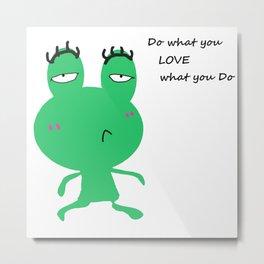 Frog & Quotes Metal Print