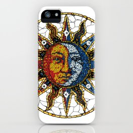 Celestial Mosaic Sun and Moon COASTER iPhone Case