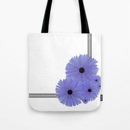 Purple Daisy Corner Tote Bag