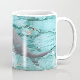 Cute Dugong Swimming Underwater  Coffee Mug