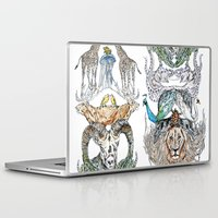wild things Laptop & iPad Skins featuring Wild Things by Carley Lee