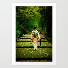 Nature and delicate Japanese culture Art Print