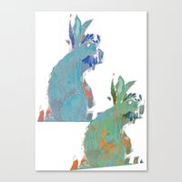 rabbits Canvas Prints featuring rabbits by Geckojoy