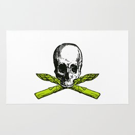 skull asparagus Rug