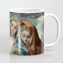 "El Greco (Domenikos Theotokopoulos) ""The Holy Family with Saint Mary Magdalen (1590-1595)"" Coffee Mug"