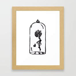 Rose under glass Framed Art Print