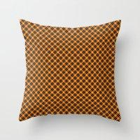 beaver Throw Pillows featuring Beaver Plaid by Bob Greenwade
