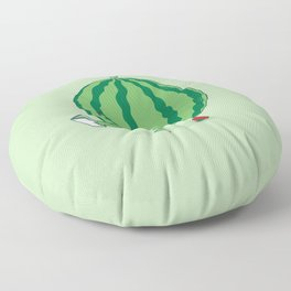 The Making of Strawberry Floor Pillow