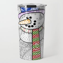 Coloured Snowman Travel Mug