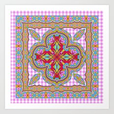 Mix&Match;  Pretty Pink Mandala Meditation pillow 01 Art Print