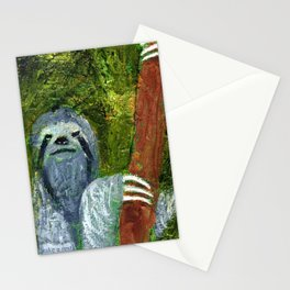 Resting Sloth Stationery Cards